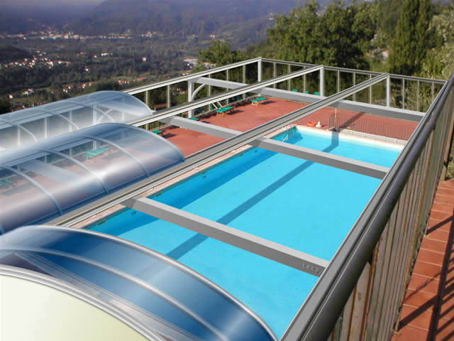 Telescopic pool enclosures archives litra usa for Telescopic pool enclosures