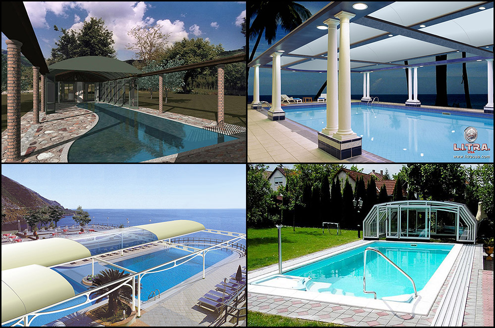 Commercial And Residential Retractable Pool Roof
